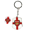 Arsenal Club Country Badge & Keyring