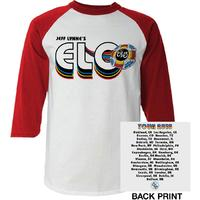 Electric Light Orchestra - 2018 Tour Logo Mens White Long Sleeve Raglan (Small) - Cover