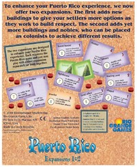 Puerto Rico - Expansions 1 & 2 (Board Game) - Cover