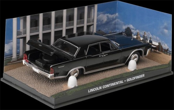 James Bond 1:43 Lincoln Continental From The Film Goldfinger