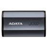 ADATA - SE730H 1TB USB 3.1 Gen 2 Type-C Waterproof Shockproof Portable External Solid State Drive - Titanium
