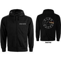 Pink Floyd - Circle Logo Backprint Men's Black Zip-up Hoodie (XX-Large) - Cover