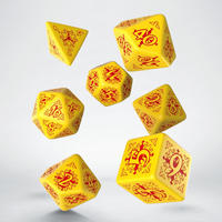 Q-Workshop - Set of 7 Polyhedral Dice - Pathfinder Legacy of Fire