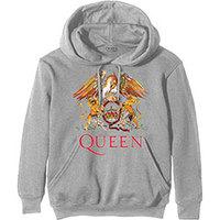 Queen Classic Crest Men's Grey Hoodie (Small) - Cover