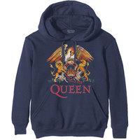 Queen Classic Crest Men's Navy Hoodie (Small) - Cover