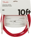Fender Original Series 3m 1/4 Inch Jack Instrument Cable (Fiesta Red)