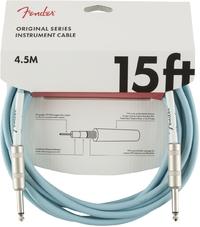Fender Original Series 4.5m 1/4 Inch Jack Instrument Cable (Daphne Blue) - Cover