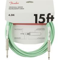 Fender Original Series 4.5m 1/4 Inch Jack Instrument Cable (Surf Green)