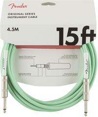 Fender Original Series 4.5m 1/4 Inch Jack Instrument Cable (Surf Green) - Cover
