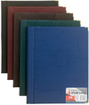 Flip File - Executive Leather Look Display Book - 100 Pocket (Blue)