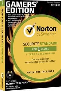 Symantec Norton Security Standard Gamers Edition Full Version