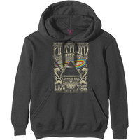 Pink Floyd Carnegie Hall Poster Men's Charcoal Hoodie (X-Large) - Cover