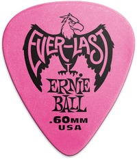 Ernie Ball Everlast .60mm Delrin Plectrum (Pink) - Cover