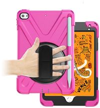 Tuff-Luv Armoured Case with Hand and Shoulder Strap for Apple iPad Mini 4 and 5 - Pink (2019) - Cover