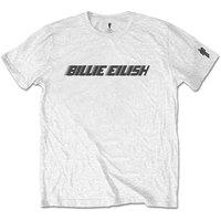 Billie Eilish - Black Racer Logo Mens White T-Shirt (Large) - Cover