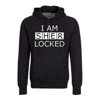 Sherlock I Am Sherlocked Men's Black Hoodie (XXX-Large) - Cover