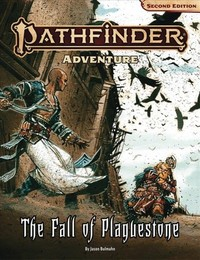 Pathfinder (Second Edition) Adventure - The Fall of Plaguestone (Role Playing Game) - Cover
