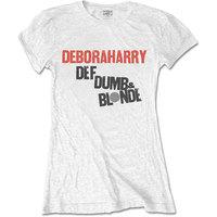 Debbie Harry Def, Dumb & Blonde Women's White T-Shirt (Medium) - Cover