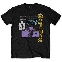 Elton John Japanese Single Men's Black T-Shirt (X-Large) - Cover