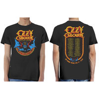 Ozzy Osbourne Bat Circle Men's Black T-Shirt (Medium) - Cover