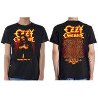 Ozzy Osbourne No More Tours Vol.2 Men's Black T-Shirt (Small) - Cover