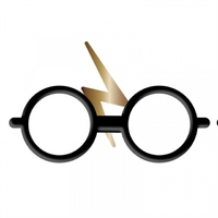 Harry Potter - Glasses And Scar Enamel Badge - Cover