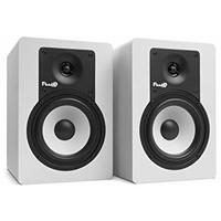 Fluid Audio C5 Classic Series 40 watt 5 Inch 2-Way Active Studio Monitors - White (Pair)