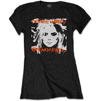 Debbie Harry French Kissin' Women's Black T-Shirt (Medium) - Cover