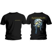 Iron Maiden Powerslave Head & Logo Men's Black T-Shirt (XX-Large) - Cover
