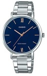 Casio Enticer Analogue Ladies Wrist Watch - Silver and Blue Face