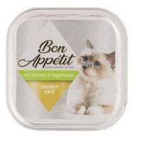 Bon Appétit - Chunky Paté with Chicken & Veg Cat Food 100g (Tray of 16) - Cover