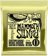 Ernie Ball 2214 Mammoth Slinky 12-62 Nickel Wound Electric Guitar Strings with Wound G