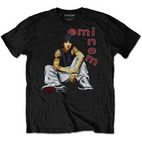 Eminem Letters Men's Black T-Shirt (Medium) - Cover