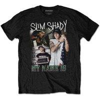 "Eminem ""My Name Is"" Homage Men's Black T-Shirt (Medium) - Cover"
