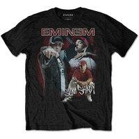 Eminem Slim Shady Homage Men's Black T-Shirt (XX-Large) - Cover