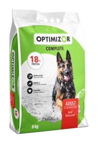 Optimizor - Complete Dry Dog Food - Beef (8kg) - Cover