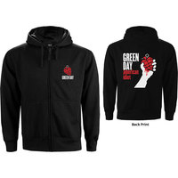 Green Day American Idiot Men's Black Zip-Up Hoodie (XX-Large) - Cover