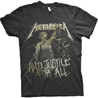 Metallica - Justice Vintage Mens Black T-Shirt (Medium) - Cover