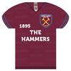 West Ham - Shirt Shaped Metal Sign
