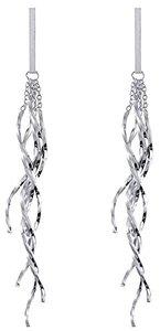 Dida - Long Earrings for Women Dangle Drop Earrings Silver Fashion Twist Wave (Jewelry) - Cover