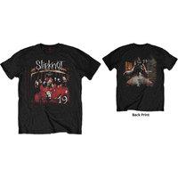 Slipknot Debut Album - 19 Years Men's Black T-Shirt (X-Large) - Cover