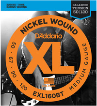 D'Addario EXL160BT 50-120 XL Nickle Round Wound Balanced Tension Medium Long Scale Bass Guitar Strings - Cover