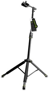 Gravity GS 01 NHB Foldable Guitar Stand with Neck Hug (Black) - Cover