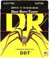 DR DDT-11 Drop Down Tuning 11-54 Heavy Nickel Plated Steel Electric Guitar Strings