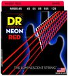 DR NRB5-45 Neon Red 45-125 Medium Nickel Plated Steel 5-String Red Coated Bass Guitar Strings