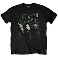 Green Day Green Lean Men's Black T-Shirt (Small) - Cover