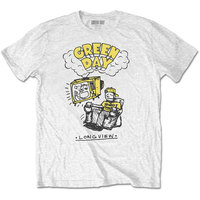 Green Day Longview Doodle Men's White T-Shirt (X-Large) - Cover