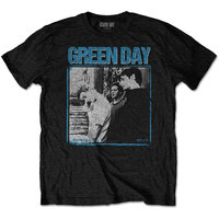 Green Day Photo Block Men's Black T-Shirt (Small) - Cover