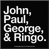The Beatles - John, Paul, George & Ringo - White On Black Patch (Patches: Woven Sew On)