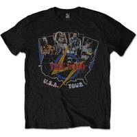 The Who - Vintage USA Tour Men's T-Shirt - Black (Medium) - Cover